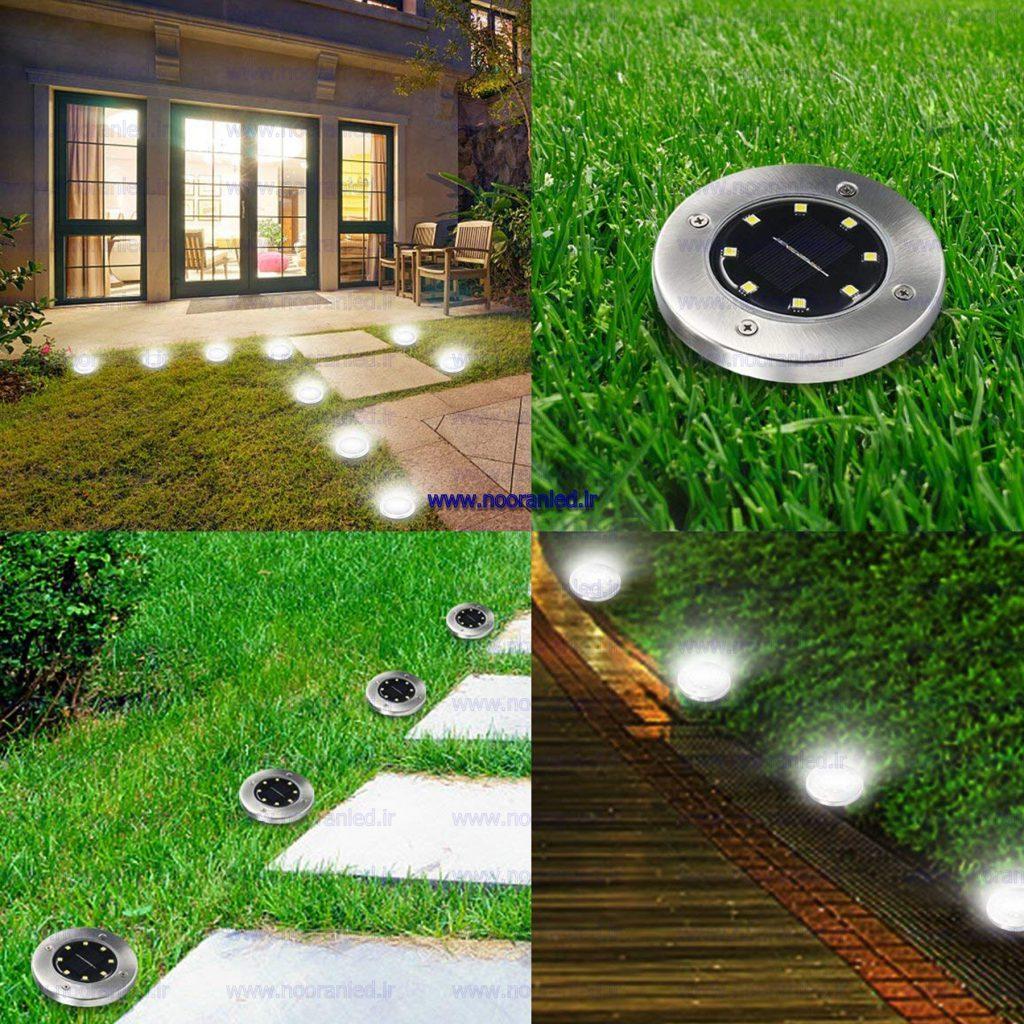 انواع چراغ های سولار در مقایسه با لامپ ها و چراغ های قدیمی، دارای مزایای بسیاری هستند. از چراغ های دفنی سولار با لامپ ال ای دی می توان در خانه ها، ویلاها، راه پله ها، محیط ادارات و ... استفاده کرد.